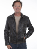 [Mens Scully Vintage Lamb Leather Jacket]