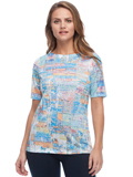 [FDJ French Dressing� Fine Art Print Boat Neck Top]