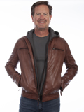 [Mens Scully Soft Lamb Leather Hooded Jacket]