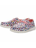 [Hey Dude Girl's Wendy Youth Leopard Print Cotton Canvas Shoe]