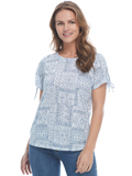 [FDJ French Dressing� Bandana Print Crew Neck Top]