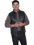 [Mens Scully Men's Italian Lamb Two Tone Leather Vest]
