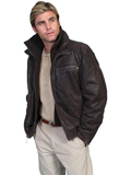 [Scully Mens - Men's Zip Out Front and Collar Frontier Leather Jacket]
