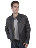 [Mens Scully Men's Washed Lamb Leather Jacket]