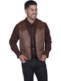 [Mens Scully Men's Leather and Suede Vest]