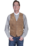 [Scully Mens Men's Leather Western Vest]