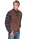 [Scully Mens Men's Boar Suede Leather Vest With Satin Back]