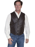 [Scully Mens Men's Lamb Lapel Leather Vest]