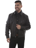 [Mens Scully Lamb Leather Zip Front Jacket]