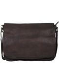 [Scully Solvang Collection Antique Goat Leather Messenger Brief]