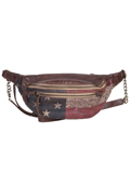 [Scully Patriot Collection Washed Cow Leather Waist Pouch]