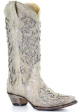 [Corral Boots Glitter Inlay and Crystals Boot]