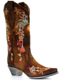 [Corral Boots Lamb Floral Embroidery Boot]