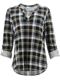 [Aventura Clothing Alistair Plaid Knit Top]