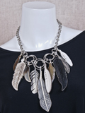 [Coreen Cordova Jewelry Feather Pow Wow Necklace]
