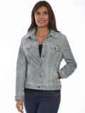 [Scully  Ladies Lamb Leather Jean Jacket]