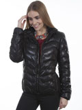 [Scully  Ladies Ribbed Lamb Leather Jacket]