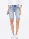 [Not Your Daughter's Jeans� Briella Denim Shorts with Mock Fly and Roll Cuff]