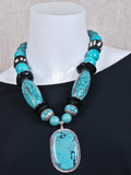 [Coreen Cordova Jewelry Turquoise Dramatic Necklace]