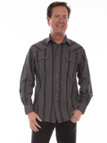 [Scully Men's Signature Series Cotton Stripe Shirt]