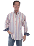 [Scully Men's Signature Series Election Stars and Stripes Cotton Shirt]