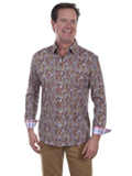 [Scully Men's Signature Soft Series Paisley Long Sleeve Shirt]