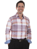 [Scully Men's Signature Soft Series Plaid Long Sleeve Shirt]