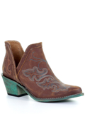 [Corral Boots Embroidered Leather Western Bootie]