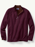[Tommy Bahama� Men's Slubtropic Reversible Half-Zip Sweatshirt]